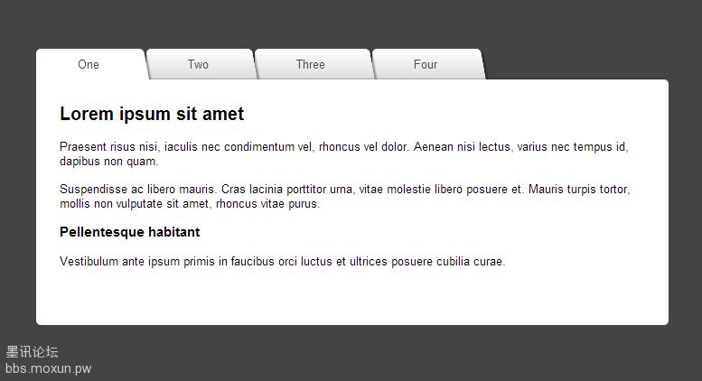 纯CSS3实现的tab标签