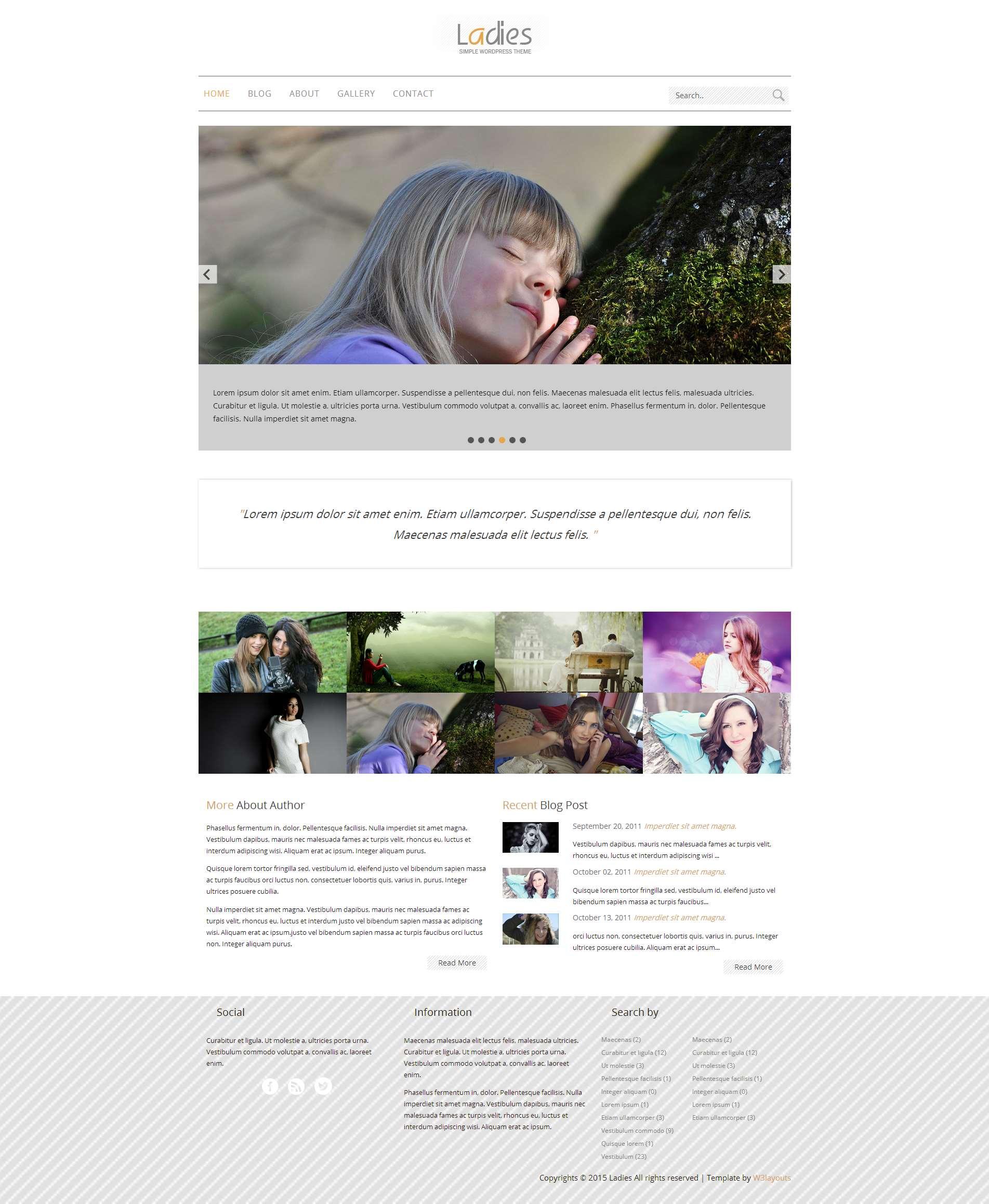 女性BLOG小组响应式网页模板