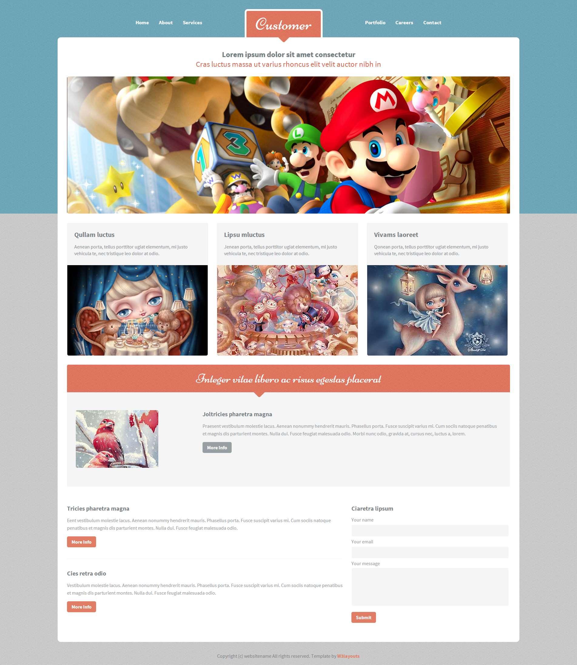3D卡通设计作品网页模板