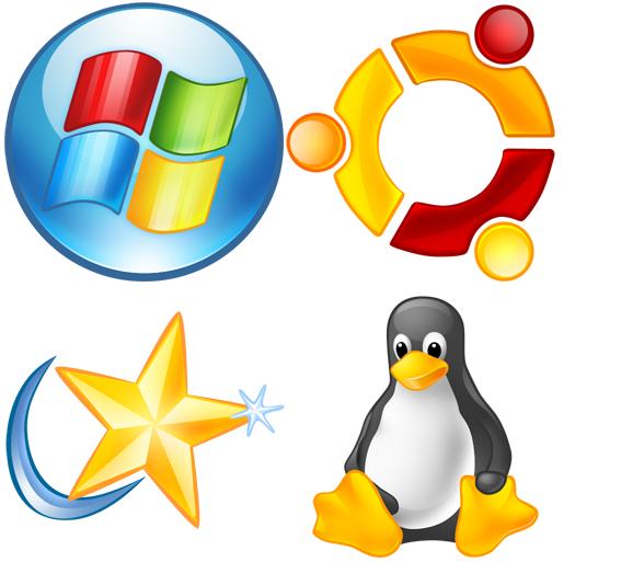 主流操作系统常用图标 (PNG)