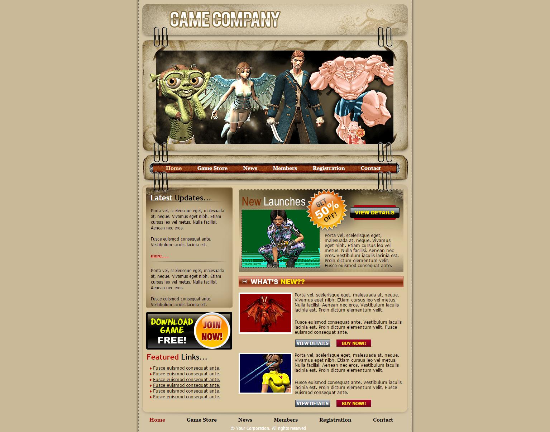 体验游戏商店网页模板