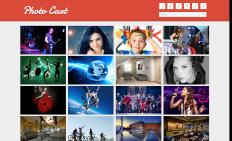 红色图片列表网页模板