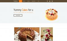 <b>漂亮蛋糕网店响应式网页模板</b>
