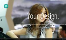 <b>时尚娱乐平面展示响应式网页模板</b>