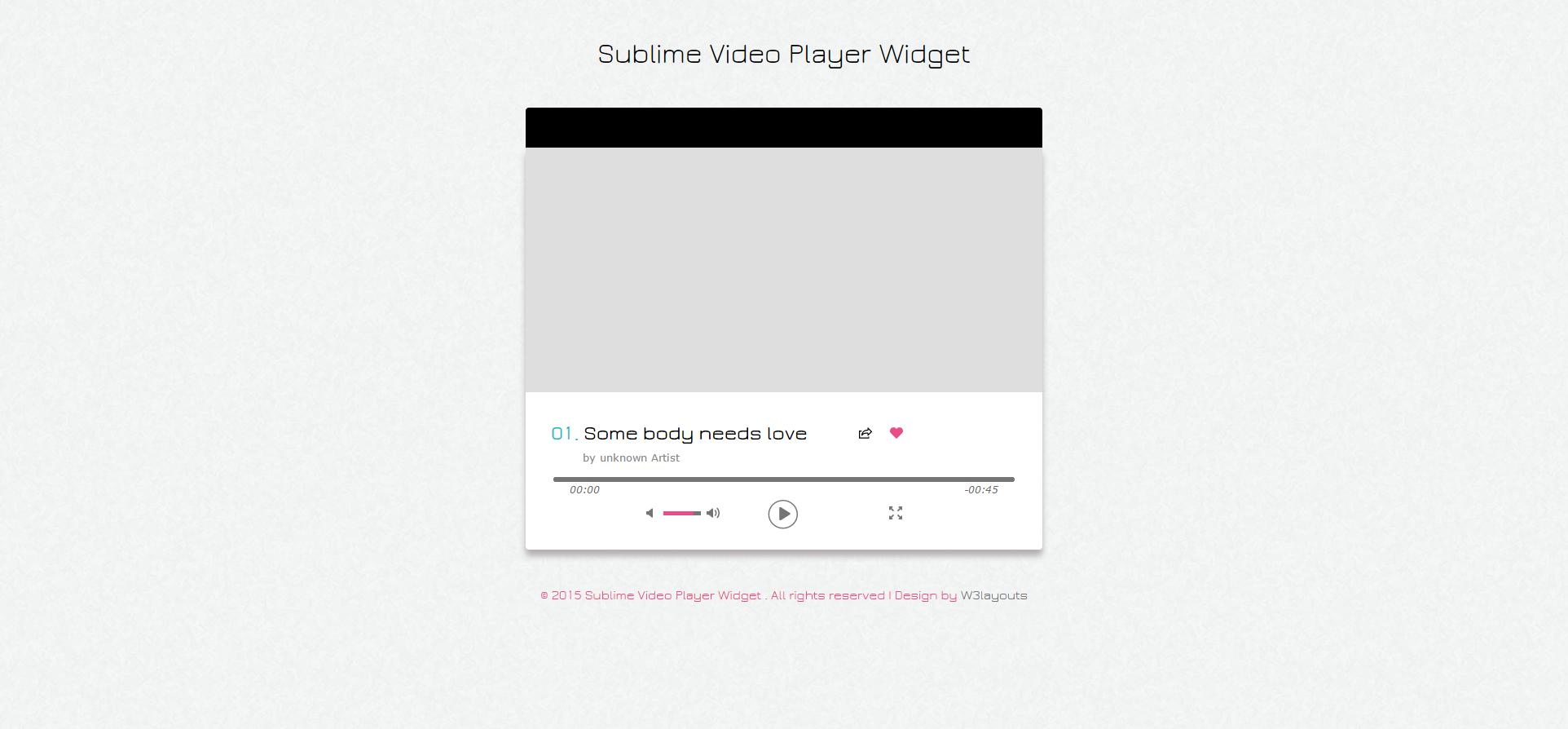 简单视频播放器网页模板