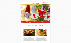 圣诞节之屋响应式网页模板