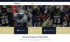 橄榄球运动比赛响应式网页模板