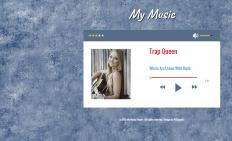 简洁音乐播放器网页模板