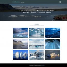冰山视频背景旅行响应式网页模板