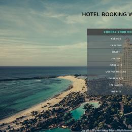 海景酒店预订响应式网页模板