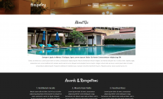 豪华酒店美食娱乐响应式网页模板
