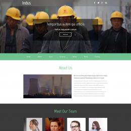 工业项目发展响应式网页模板