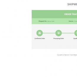 物流跟踪信息组件响应式网页模板