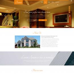 乡村室内装饰响应式网页模板