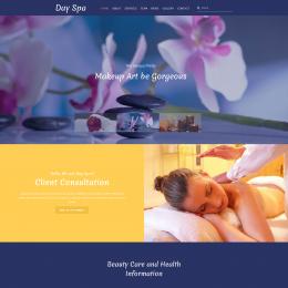 水疗美容SPA响应式网页模板