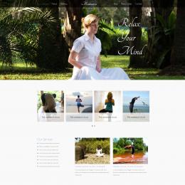瑜伽冥想健身响应式网页模板