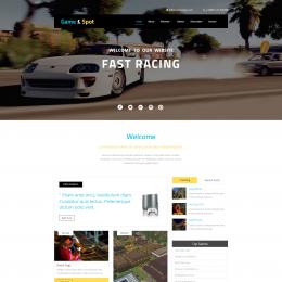 游戏类产品介绍响应式网页模板