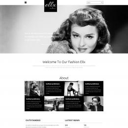 黑白时尚工作室响应式网页模板