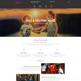 儿童慈善救助响应式网页模板