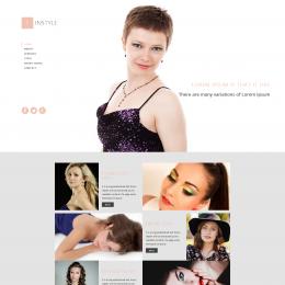 简约时尚前沿信息响应式网页模板