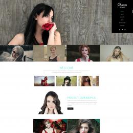 魅力模特展示响应式网页模板