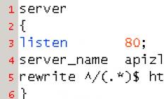 nginx http301转跳 无www转跳到www域名