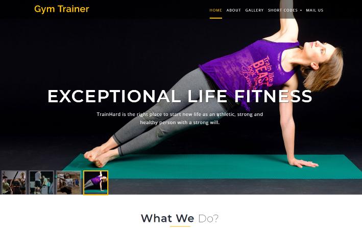 专业健身训练响应式网页模板