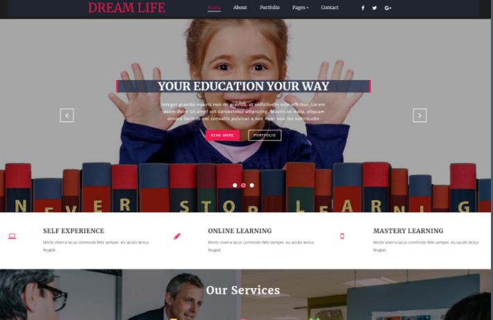 梦想创意服务展示响应式网页模板