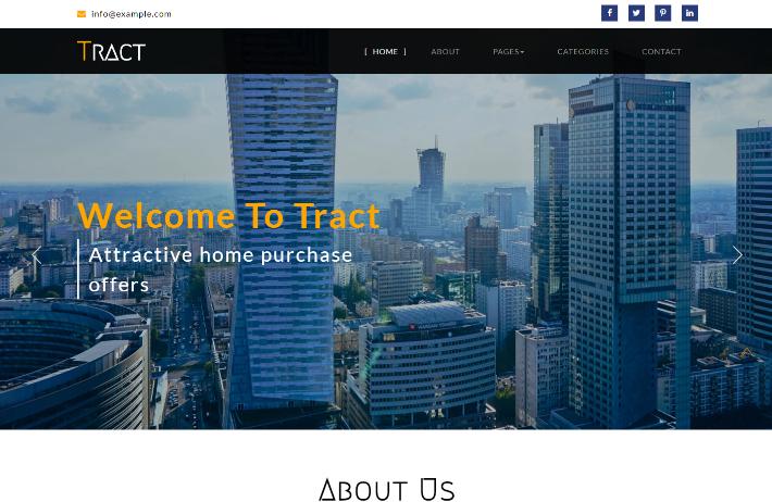 商务房产服务响应式网页模板