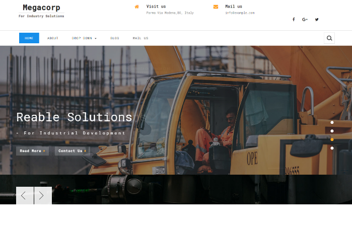 建筑项目建设施工响应式网页模板