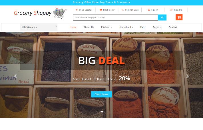 大型食品网店响应式网站模板