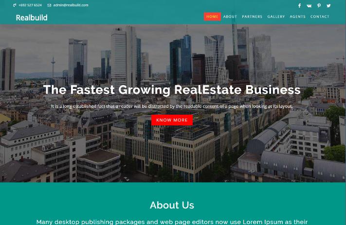 房产交易机构联盟响应式网页模板
