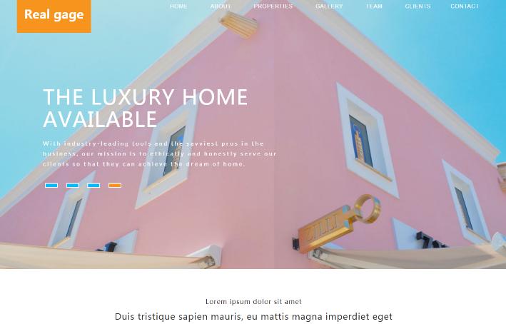 房产租售服务响应式网页模板
