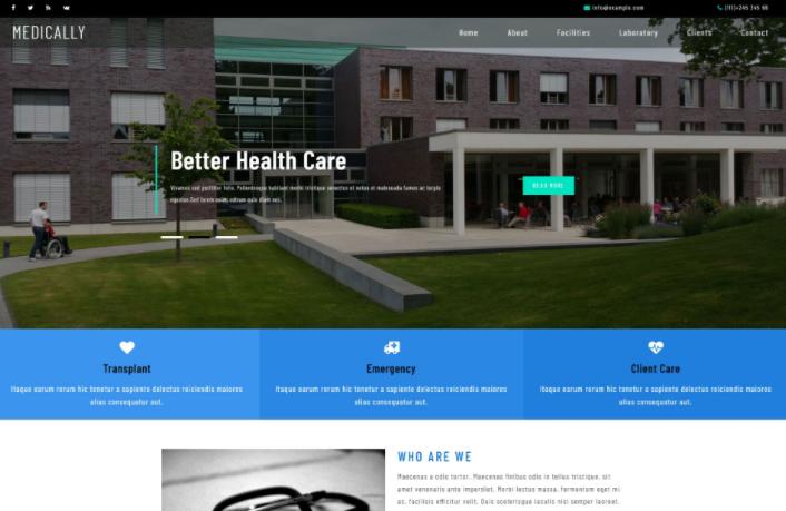 医疗研究中心响应式网页模板