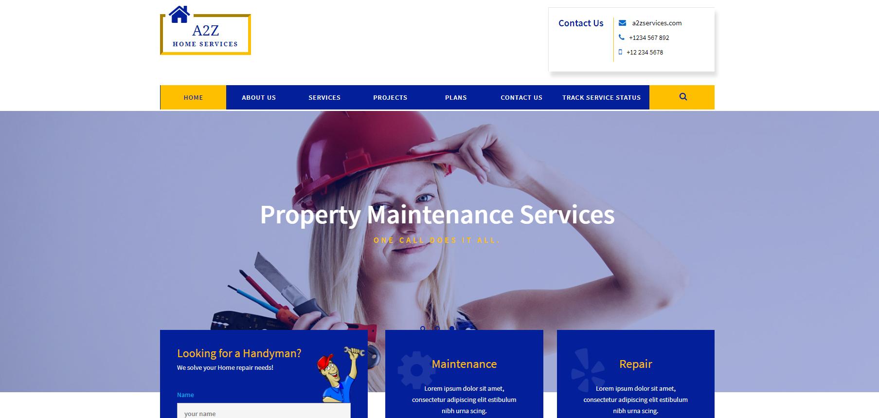 家庭保洁服务响应式网站模板