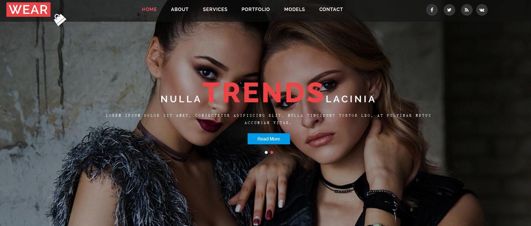 时尚衣着设计展示响应式网页模板