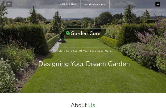 花园草坪护理响应式网页模板
