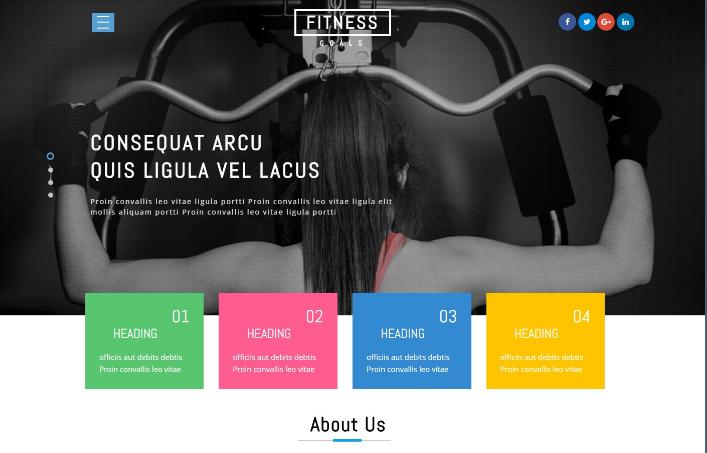 健身环境团队展示响应式网页模板