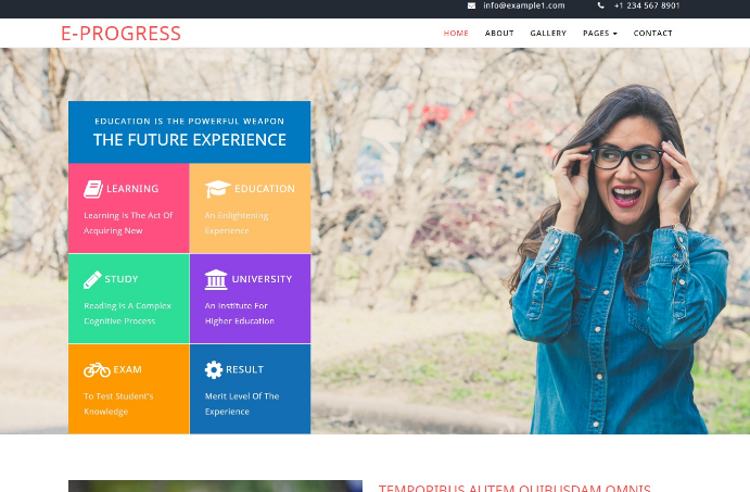 培训课程安排展示响应式网站模板