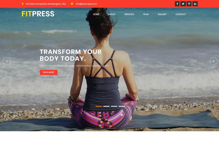 瑜伽健身培训响应式网页模板