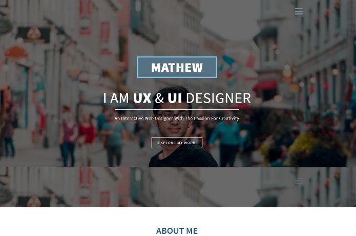 设计师作品展示服务响应式网页模板