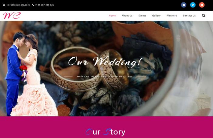 婚礼仪式策划响应式网页模板