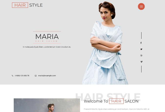 发型设计屋响应式网页模板