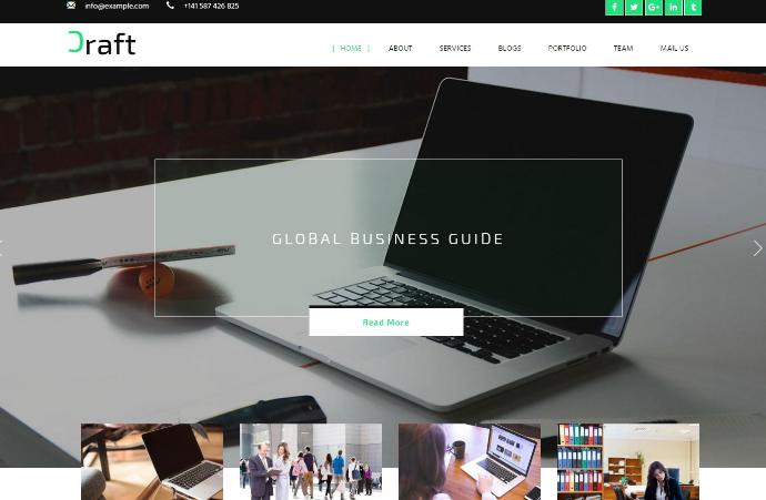 商务创意服务展示响应式网页模板