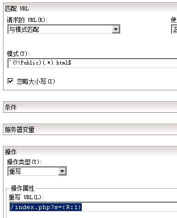 thinkphp IIS伪静态排除静态文件目录或其他目录