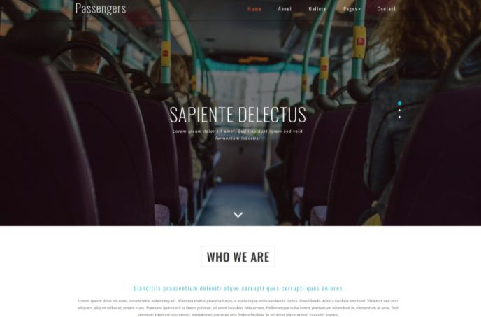 客运服务中心响应式网页模板