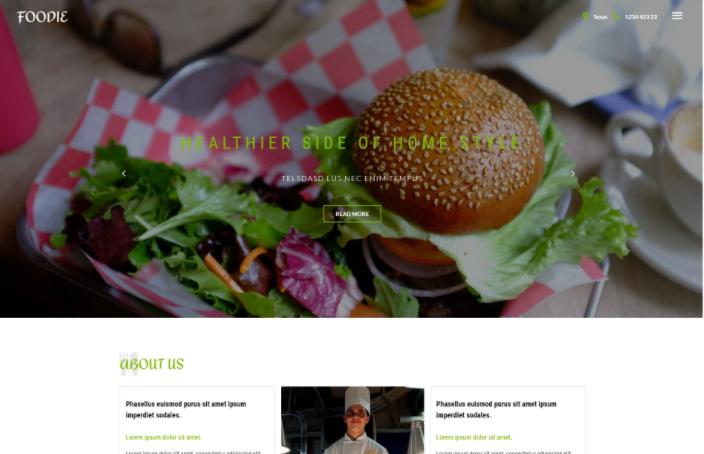 顶级厨师餐厅响应式网页模板