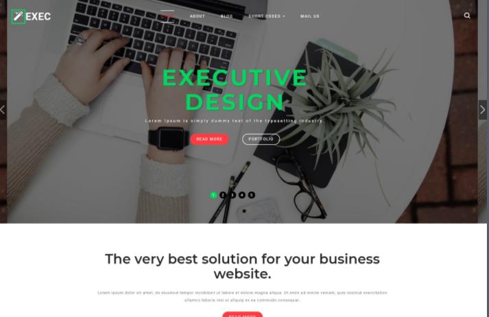 创意服务展示响应式网页模板