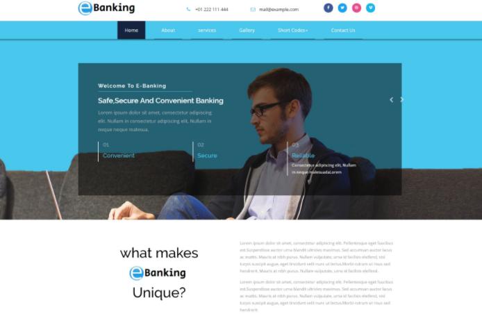 网络金融服务团队展示响应式网页模板