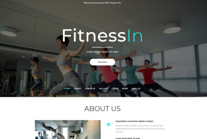 健身服务中心展示响应式网页模板